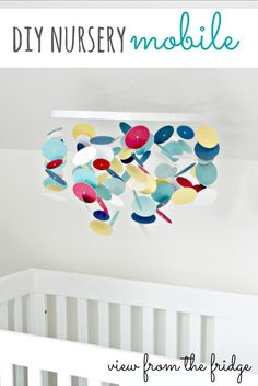 DIY Custom Nursery Mobile -via @View From The Fridge #diy #nursery  http://viewfromthefridge.com/diy-custom-nursery-mobile/
