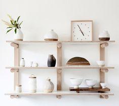 The Design Files> Wingnut and Co. Dowel shelf details.