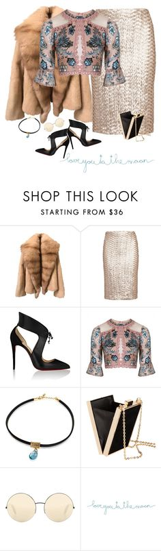 """""""love you to the moon and back"""" by harleenquinzelx ❤ liked on Polyvore featuring Alice + Olivia, Christian Louboutin, For Love & Lemons, H&M, Victoria Beckham and Natural Life"""
