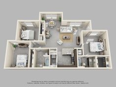 The Pointe at Cabot | 3 Bedroom 2 Bath Hawthorn Reserve floor plan offers additional sq. footage