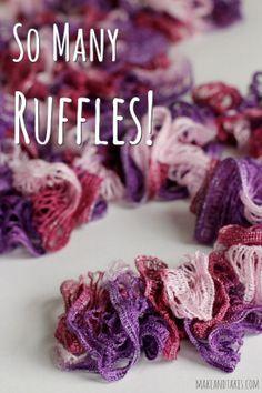 Ruffles Yarn Crochet Scarf Tutorial