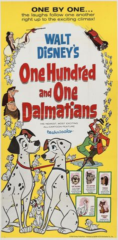 Movie Posters:Animated, One Hundred and One Dalmatians (Buena Vista Lobby Card Press Book. Now considered a true Disney animate.