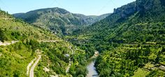 Sainte-Enimie, Gorges du Tarn ...  Lozere, blue, canyon, city, cityscape, color, day, europe, france, french, gorges, green, historic, languedoc-roussillon, mountain, nature, old, outdoor, panorama, photography, plant, river, road, sainte-enimie, scenic, sky, summer, sunny, tarn, town, tree, valley, woods
