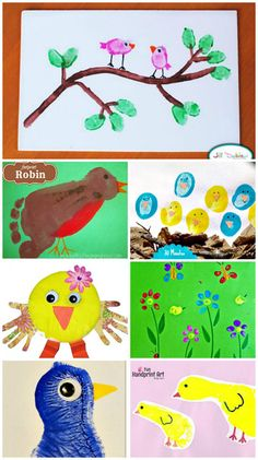 Did you know that most baby animals are born in the Spring? Today's post is all about Spring animals made handprints, footprints, and fingerprints. These are also animals that come to mind when you think of Easter. Plus bugs, butterflies, and more!