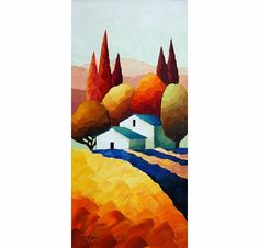 """Sveta Esser Hand Signed and Numbered Limited Edition Giclee on Canvas: """"Hillside Jewel"""""""