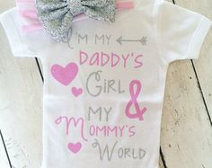 Baby Girl Clothes I'm My Daddy's Girl And My by ThreeSweetLimes