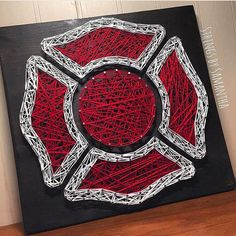 MADE TO ORDER Firefighter String Art by StringsbySamantha on Etsy