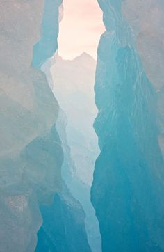 View through the ice - Svalbard by Donna Hampshire