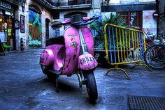 Crazy Pink Vespa
