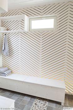 paneeliseinä,lautaseinä,seinä,seinän koristelu,pukuhuone,sauna,paneeli,asuntomessut,mökki