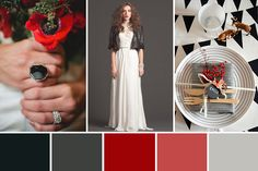 Tones of black and white with added hints of ruby red add up to create this a modern Christmas wedding colour palette. Wedding Looks, Red Wedding, Wedding Season, Wedding Decor, Wedding Ideas, Wedding Color Combinations, Wedding Color Schemes, Color Inspiration, Wedding Inspiration