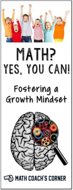 Math is badly in need of a mindset makeover! Learn more about growth mindset and how important it is for mathematical success. Links to great resources.