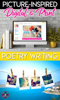FREE download - inspire middle and high school students to write poetry! Digital and print versions included. #PoetryWriting #PhotoAnalysis #MiddleSchoolELA #HighSchoolELA
