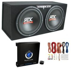 MTX Dual Loaded Car Subwoofers with Box Enclosure Boss Package. New MTX Car Subwoofer Enclosure. 12 Inch Subwoofer, Subwoofer Box, Small Subwoofer, Nottingham, Car Best, Car Audio Shops, Derby, Ported Box, Automobile