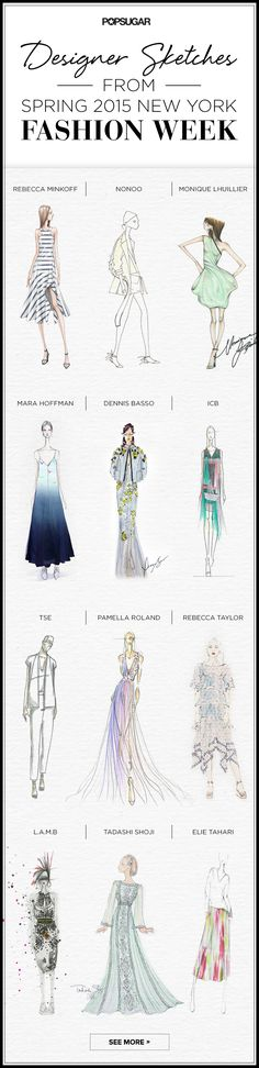 Designer Sketches (POPSUGAR) from Spring 2015 NEW YORK Fashion Week