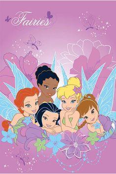 Παιδικά χαλιά Disney Σταμπωτά - ΒΙΟΚΑΡΠΕΤ. Tinkerbell - Νεράιδες