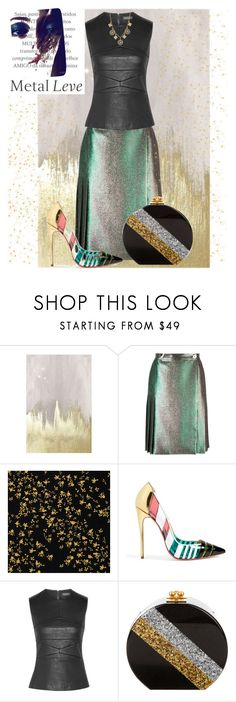 """""""Check my Reflects"""" by scope-stilettos ❤ liked on Polyvore featuring Oliver Gal Artist Co., Marco de Vincenzo, Versace, Christian Louboutin, Narciso Rodriguez, Edie Parker, Freida Rothman and statementshoes"""