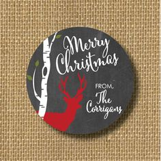 Merry Christmas tags holiday gift tags custom by CastleberryHill