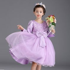 $27.99 (Buy here: https://alitems.com/g/1e8d114494ebda23ff8b16525dc3e8/?i=5&ulp=https%3A%2F%2Fwww.aliexpress.com%2Fitem%2FDresses-For-Girls-Children-Dress-Long-Sleeve-Kid-Clothes-Evening-Dress-Sweet-Bow-Girls-Dresses-Party%2F32724325474.html ) Dresses For Children Girls Dress Long Sleeve Kid Clothes Evening Dress Sweet Bow Girls Vestido Party Wedding Violet Formal Dress for just $27.99