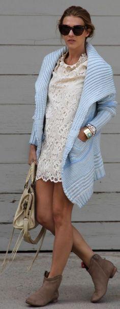 3943efe00d Be Chick tender Blue Pattern Knit Cardigan by Czech Chicks Lace Vest Outfit