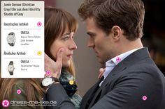 Jamie Dornan (Christian Grey) Uhr (OMEGA - Aqua Terra Silver Dial Brown Leather) aus dem Film Fifty Shades of Grey