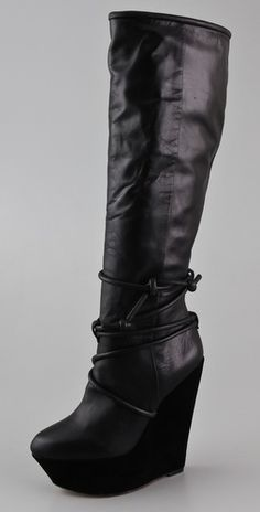 L.A.M.B. Bolero Wedge Boots...fab!