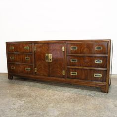 Drexel Campaign Dresser $850.....We offer a wide variety of furniture and accessories. We are located in the Dallas Design District. We can ship to any location in the US. visit us at www.againandagain.com  www.facebook.com/againdesign