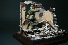 Scale model WW2 Diorama Miniature Wehrmacht by MiniatureArmyShop