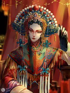 Character Art, Character Design, Chinese Artwork, Chinese Opera, Fox Art, China Art, Chinese Culture, Pretty Art, Ancient Art
