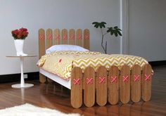 Popsicle stick bed ends