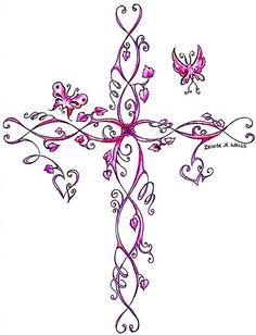 feminine cross tattoos   Cross Tattoo by Denise A. Wells