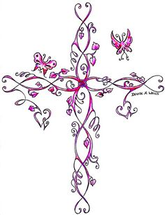 feminine cross tattoos | Cross Tattoo by Denise A. Wells