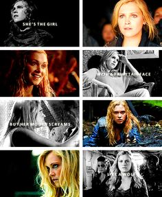 Clarke: She's the girl with a fairytale face but her mouth screams like a wolf's #the100