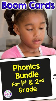 Boom Cards First Grade | Boom Cards Reading | A Phonological Awareness & Word Recognition Bundle packed full of digital task cards. This no prep, self-checking, First Grade Bundle features 16 digital Boom Card Phonics & Word Work Decks with movable pieces focusing on Common Core Foundational Skills standards. #Boomcards #Boomcardsfirstgrade #Boomcardsreading #TeacherFeatures #techinprimary #digitaltaskcards #dailyfivefirstgrade #firstgradephonics #literacycentersfirstgrade