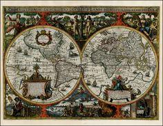 Nicholas Van Geelkercken:  Orbis Terrarum Descriptio Duobis Planis Hemisphaeriis Comprehesa