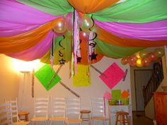 """Photo 21 of Black light/neon / Birthday """"Tabitha and Lilly's birthday"""" Dance Decorations, Birthday Party Decorations, Party Themes, Neon Birthday, 14th Birthday, Slumber Parties, Birthday Parties, Birthday Ideas, Themed Parties"""