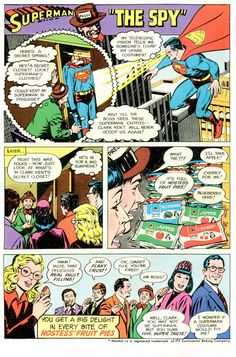 Superman Hostess Fruit Pies ad