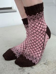 Knitting Patterns Socks Ravelry: Lucy In the Sky pattern by KnittyMelissa Crochet Socks, Knitted Slippers, Knit Or Crochet, Knitted Bags, Knit Socks, Crochet Granny, Crochet Humor, Crochet Mandala, Crochet Afghans