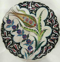Kece Turkish Plates, Turkish Tiles, Turkish Art, Islamic Tiles, Islamic Art, Turkish Pattern, Turkish Design, Simple Acrylic Paintings, Art Decor