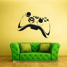 Wall Decal Vinyl Sticker Decals Gaming Time xbox 360 Game Controller for the game room! Game Boy, Xbox 360, Wall Stickers Murals, Vinyl Wall Decals, Game Controller, Boys Bedroom Decor, Bedroom Ideas, Gamer Room, Vinyl Art
