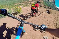 Terrifying MTB trail ride with GPS-tracking drone