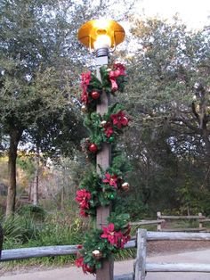 Disney Christmas decorations at the Fort Wilderness. I can't wait!!!