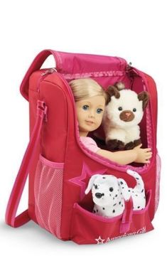 American-Girl-Doll-amp-Pet-Carrier-Berry-Pink-BRAND-NEW-FITS-18-034-Doll-Bitty-Baby