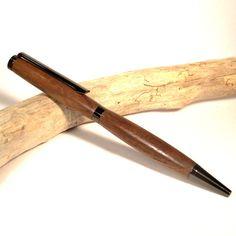 Walnut Slimline Pen with Gun Metal Plating