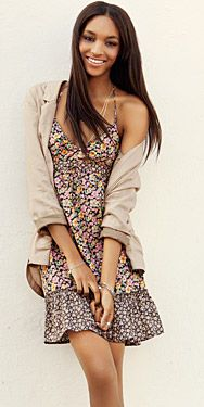 HM dress, love the florals with the blazer #HM #dress #style #bohemian