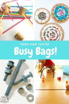 These calm, mess free activities are great to keep your child busy and entertained. A great replacement for screens, and easy activity for when parents are busy. Quiet Time Activities, Creative Activities For Kids, Kids Learning Activities, Preschool Activities, Busy Bags, Activity Ideas, Toddler Preschool, Kids Crafts, Screens