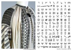 Antique Romanian hand embroidered blouse from Oltenia region, Princess Ileana Collection- Kansas State University Museum Folk Costume, Costumes, Embroidered Blouse, Traditional Outfits, Romania, Kansas, Weaving, Symbols, Embroidery