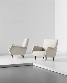 Phillips de Pury & Company: Design, GIO PONTI, Pair of armchairs, model no. 803