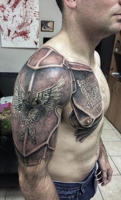 Shoulder Armor Tattoo, Tribal Shoulder Tattoos, Arm Sleeve Tattoos, Japanese Sleeve Tattoos, Chinese Tattoos, Rib Tattoos For Guys, Fake Tattoos, Leg Tattoos, Body Art Tattoos