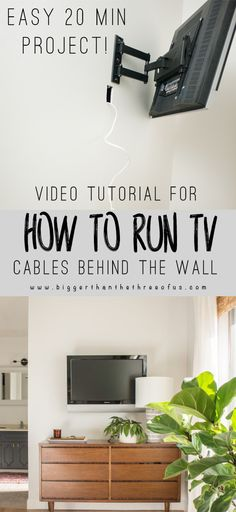 How To Run TV Cables Through The Wall - Full Step by Step on video for you! It's easier than you might think. Hop over to get the tutorial.